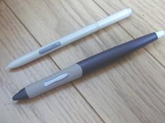 ペンの比較。細いのがArtPadII
